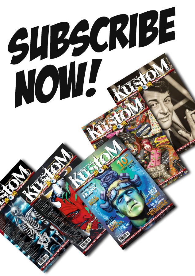 Annual subscriptions for Pinstriping & Kustom Graphics Magazine