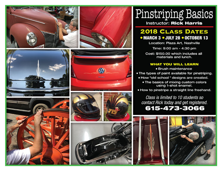 Rick Harris' pinstriping classes dates and locations